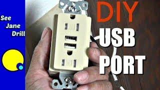 USB PORT IN A WALL?! - USB Outlet Tutorial
