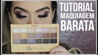 Tutorial com maquiagem barata + Resenha paleta BeStylish RubyRose