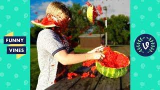 TRY NOT to LAUGH or GRIN - EXPLODING WATERMELON CHALLENGE Compilation | Funny Vines Videos