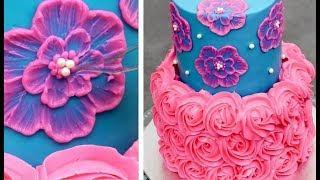 Quick & Easy Cakes Decorating Ideas | Buttercream Cake Tutorial