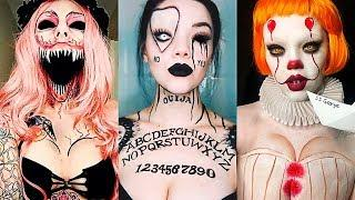 INCREÍBLES MAQUILLAJES PARA HALLOWEEN #12 / Easy Halloween Make Up Tutorial 2017
