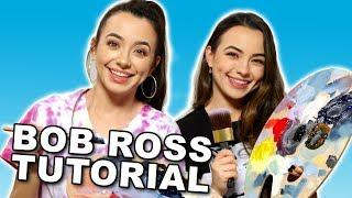 Following a Bob Ross Tutorial with Only Audio - Merrell Twins