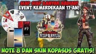 TUTORIAL Dapetin Hape Note 8 dan Skin Kopasus GRATIS! EVENT KEMERDEKAAN - GARENA FREE FIRE