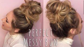 PERFECT MESSY BUN HAIR TUTORIAL!