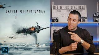 BATTLE OF AIRPLANES Photo Manipulation Tutorial | Fun and Easy!