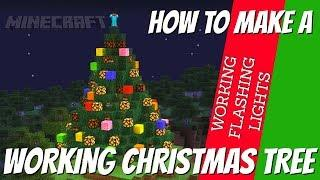 How to make a Christmas Tree in Minecraft with flashing lights | tutorial by Avomance