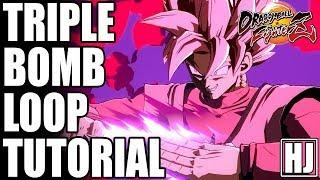 How to Properly Perform Goku Black's Triple Super Bomb Loop Tutorial w/ Online Match Demonstration