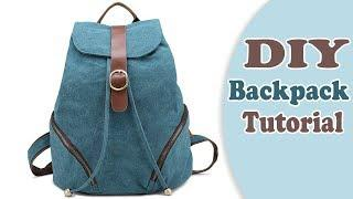 DIY ADORABLE BACKPACK TUTORIAL FROM SCRATCH // New Design Easy Way !!