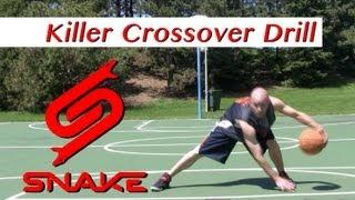 Killer Crossover Drill Tutorial - How To Do NBA Ankle Breaker Dribbling Moves | Snake