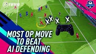 MOST OVERPOWERED ATTACKING MOVE TO BEAT AI DEFENDING in FIFA 19 DIVISION RIVALS! BEST TRICK TUTORIAL