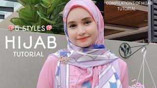 5 STYLE|| MOST SIMPLE & STUNNING|| HIJAB SQUARE TUTORIAL!||