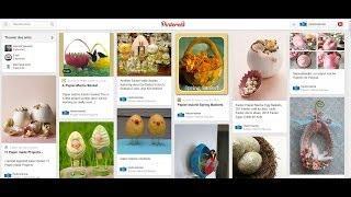Décorations De Pâques  : Lapin Et Panier D'oeufs De Pâques En Papier Mâché