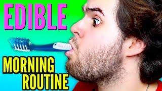 DIY EDIBLE MORNING ROUTINE - Eat Your Toothbrush DIY Tutorial