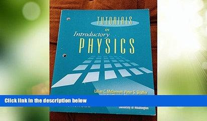 Price Tutorials in Introductory Physics: Homework Lillian C. McDermott For Kindle