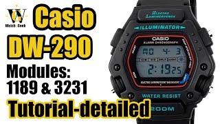 Casio DW-290 - module 3131 & 1189 - tutorial on how to setup and use all the functions