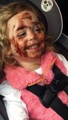 Dad Discovers Daughter Covered in Chocolate