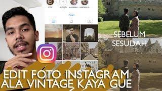 tutorial edit foto Instagram jadi vintage ala gue!