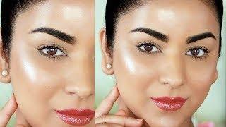 Easy 3-Step Glowing/Dewy Makeup Tutorial (No Highlighter!!)