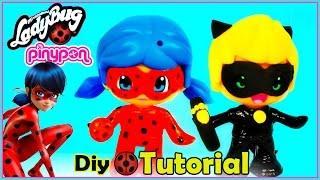 Ladybug - Tutorial, transforma tus pinypons en Ladybug y Cat noir - DIY