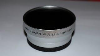 Wide Angle Lens Adapter Converter 0.50X - One Minute Tutorials By Damir Glavac HD