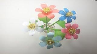 How to Make Beautiful Flower with Paper - Making Popular Paper Flowers tutorial Step by Step