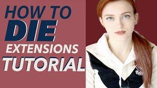 HOW TO DIE (Extensions) | Extension Hair Dye Tutorial | Uni Wigs