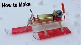 How to Make a Snowmobile - Air Car - Easy Way - Tutorial