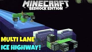Minecraft Bedrock: Multi Lane Frosted Ice Highway Tutorial! MCPE Xbox PC