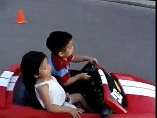 Two cute kids drifting away- Must watch - Funny Images & Videos