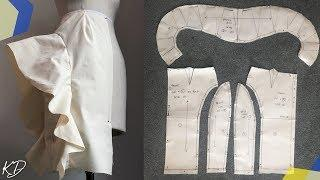 PENCIL SKIRT WITH FLOUNCE PATTERN TUTORIAL   KIM DAVE
