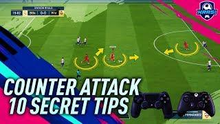 FIFA 19 HOW TO BUILD UNSTOPPABLE COUNTER ATTACKS! 10 SECRET TRICKS TO CREATE DEADLY ATTACKS TUTORIAL