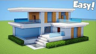 Minecraft 7x7 Small Modern House House Tutorial