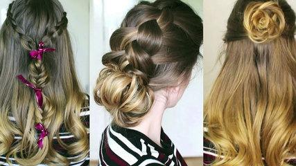 3 Pretty Braided Hairstyles Hair Tutorial