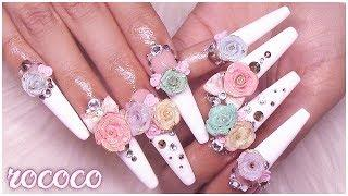 EXTRA AF Gilded Handmade Acrylic Roses & Bows| 3D Nail Art Tutorial