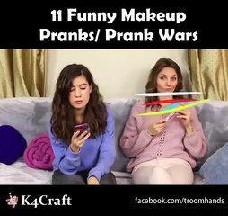 11 Funny Makeup Pranks/ Prank Wars via: Troom Troom - easy DIY video tutorials, youtube.com/troomtro