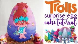 3D Trolls Surprise Egg Cake Tutorial | Abbyliciousz The Cake Boutique