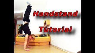 Handstand Tutorial (Deutsch/ German) [ENGLISH SUBTITLE]