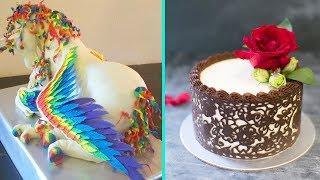 [AMAZING] Cakes Decorating Tutorial 2017 - Best Chocolate Cakes Decorating Technique 2017