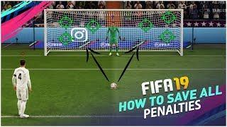 FIFA 19 HOW TO SAVE ALL PENALTIES TUTORIAL - HOW TO DEFEND PENALTIES (Pks) TRICK