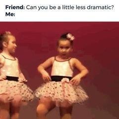 Funny dancing girl