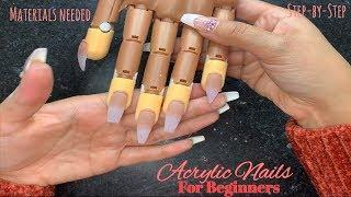 Acrylic Nails Tutorial | Nails For Beginners | Acrylic Application | Nails shapes | Materials