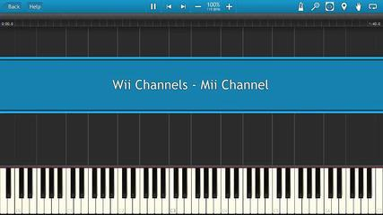 Wii Channels - Mii Channel [Piano Tutorial]