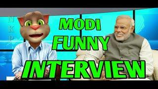 Modi ji Funny Interview | Talking tom & modi ji Funny Interview