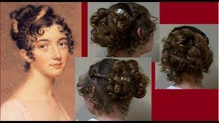 Ball Party Fancy Regency Era Hairstyle Tutorial~Long Hair~1800s Period Jane Austen~Takedown~kmemuse
