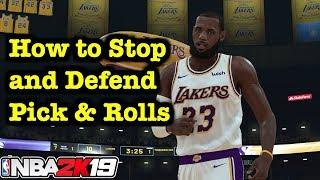 NBA 2K19 How to Play Defense Tutorial Defensive Settings On Ball Tips vs. Pick and Rolls 2K19 #17