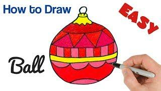 How to Draw Christmas Ball | Christmas Tree Ornament Drawing | Art Tutorial