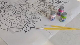 Como Pintar Un Mantel Tutorial De Pintura Textil