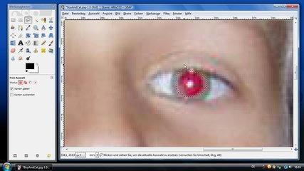 Tutorial: Rote Augen mit Gimp entfernen