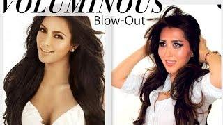 ★KIM KARDASHIAN VOLUMINOUS BLOW-OUT TUTORIAL | PROM HAIRSTYLES | HOW TO BLOW DRY HAIR | GIVEAWAY