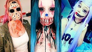 INCREÍBLES MAQUILLAJES PARA HALLOWEEN #21 / Easy Halloween Make Up Tutorial 2017